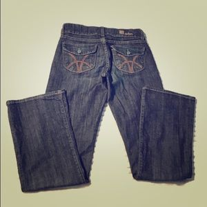KUT from the Kloth high waisted dark wash jeans